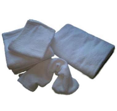 asciugami bianchi canapa