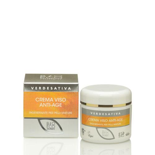 crema viso bio-attiva ANTIAGE- canapa verdesativa