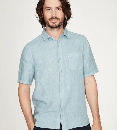 Camicia Maniche Corte Merano Azzurra Thought 1