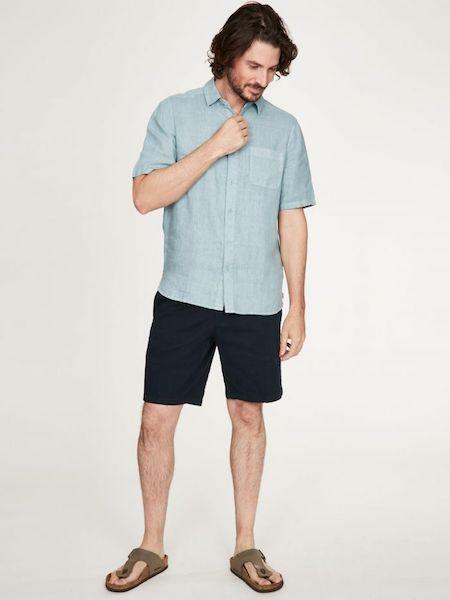Camicia Maniche Corte Merano Azzurra Thought 2